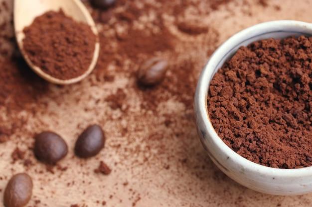 Café instantané avec grain