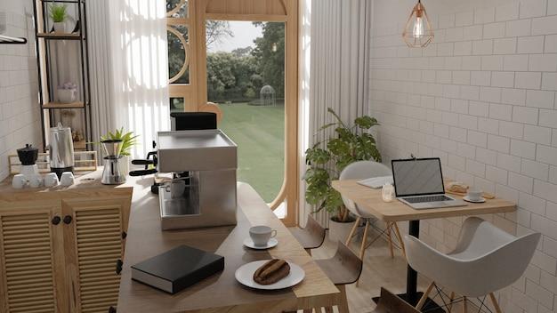 Café de maquette dans le jardin