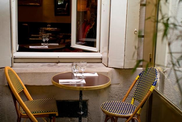 Café en plein air à paris france