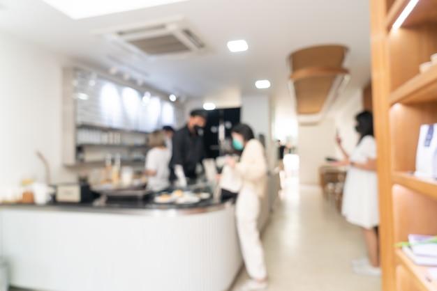 Café-restaurant flou abstrait et café-restaurant pour le fond