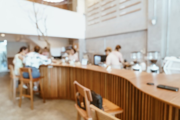 Café et restaurant flou abstrait café et restaurant pour le fond