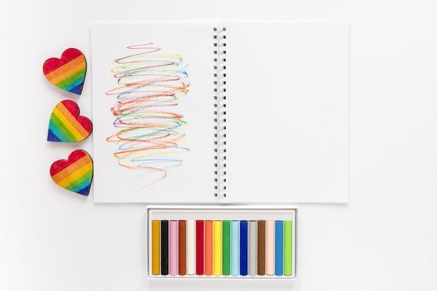 Cahier à crayons