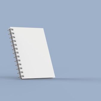 Cahier d'exercices vierge sur bleu