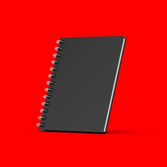 Cahier noir blanc sur rouge