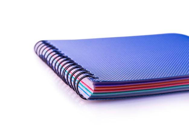 Cahier à spirale bleu journal