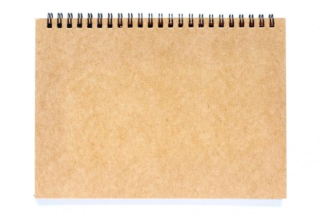 Cahier à spirale marron avec reliure à anneaux
