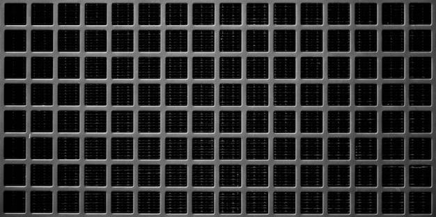 Caillebotis en acier noir au radiateur de voiture