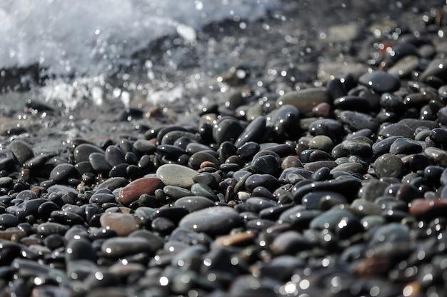 Cailloux sur l'océan