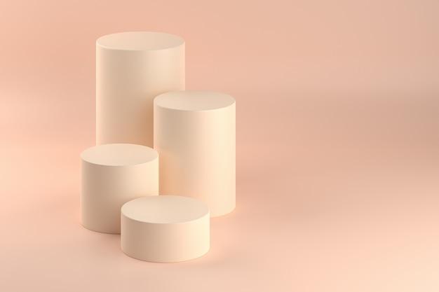 Caissons cylindriques beige pastel