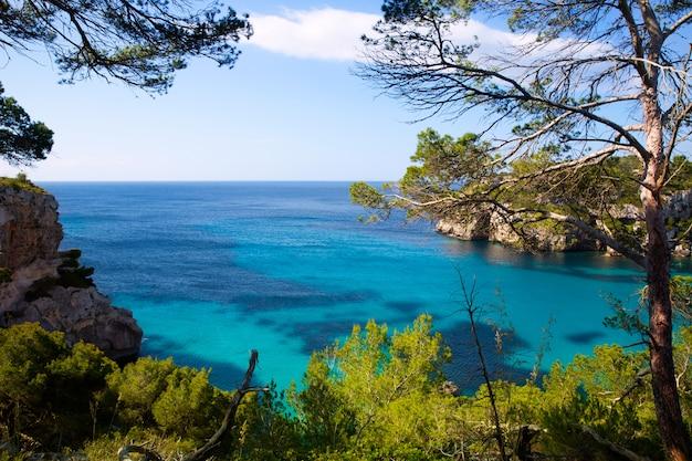 Cala macarella menorca turquoise baléares méditerranée