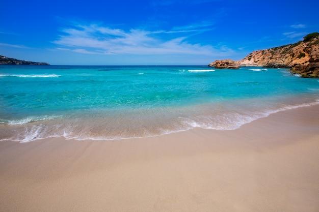 Cala tarida à la plage d'ibiza aux îles baléares