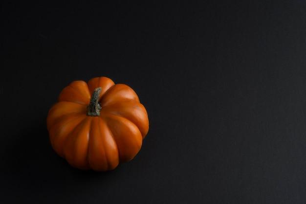 Calabazas mini sobre fondo negro degradado para halloween