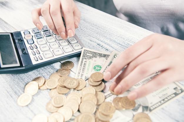Calcul du concept d'entreprise de financement de l'argent.