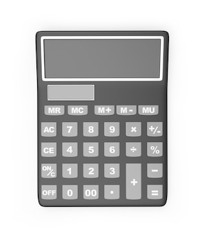Calculatrice de bureau avec écran vierge