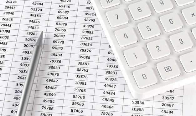 Calculatrice et crayon sur l'arrière-plan du graphique, affaires