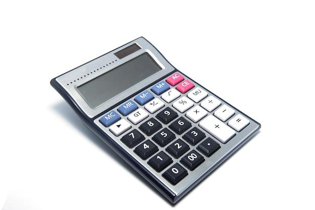 Calculatrice isolé sur fond blanc
