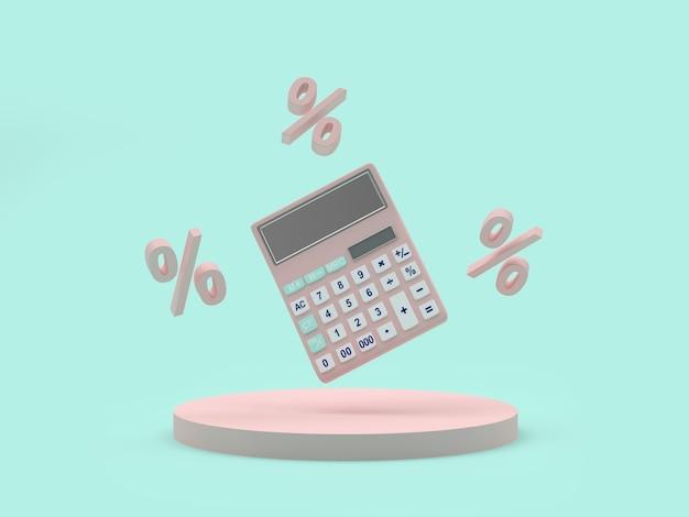 Calculatrice avec signes de pourcentage