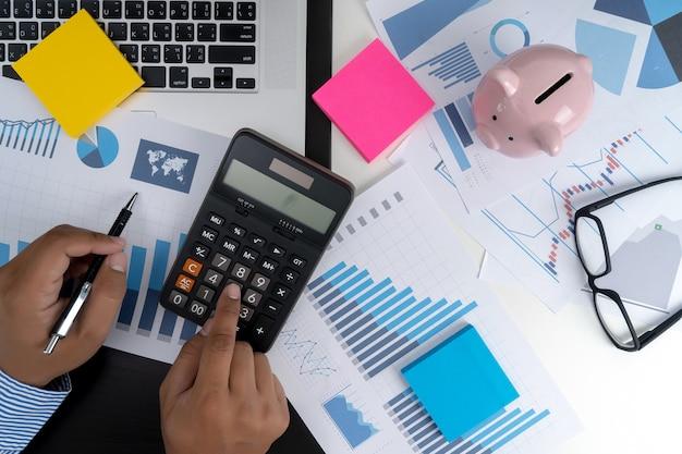 Calculer les chiffres, graphique de comptabilité financière financière avec diagramme de réseau social