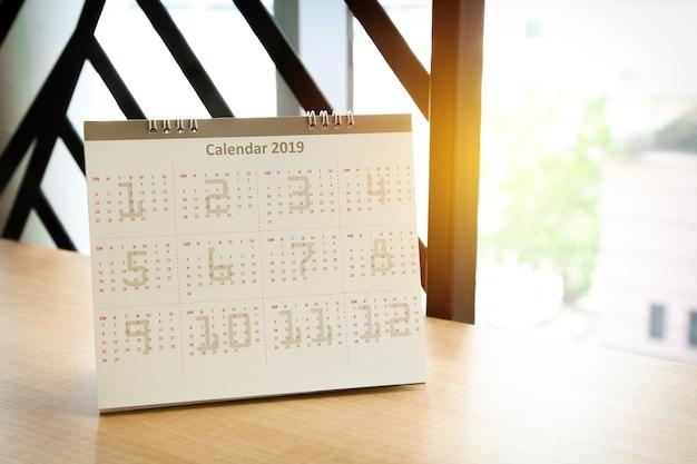 Calendrier 2019, planification de rendez-vous ou d'activités