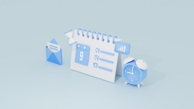 Calendrier des activités pour le concept d'analyse de campagne de marketing