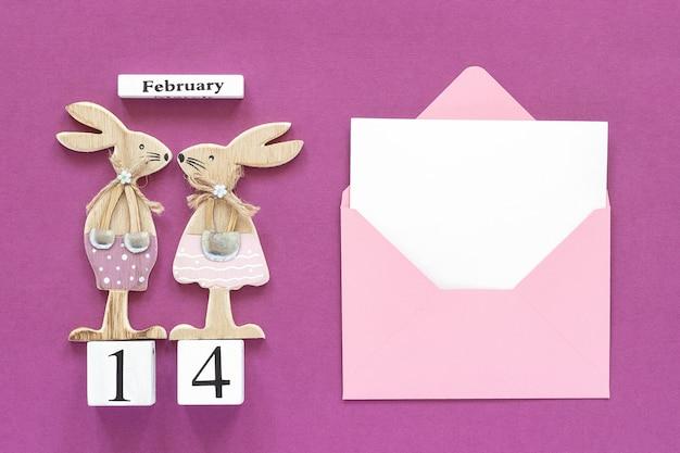 Calendrier cubes 14 février