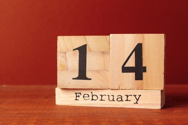 Calendrier avec date st valentin