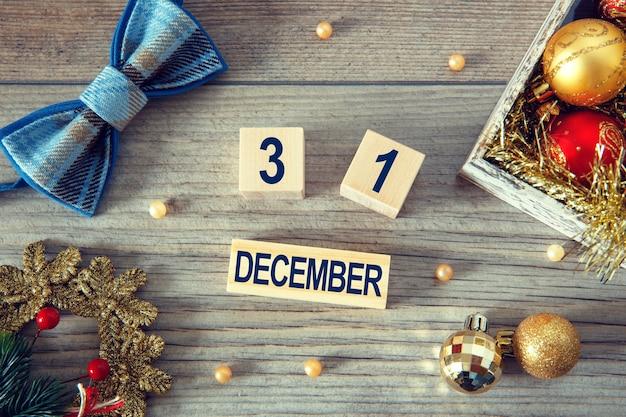 Calendrier décembre symbole de la nouvelle année