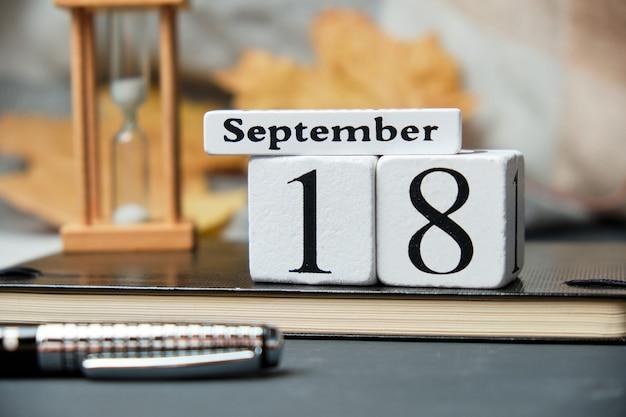 Calendrier du dix-huitième jour du mois d'automne