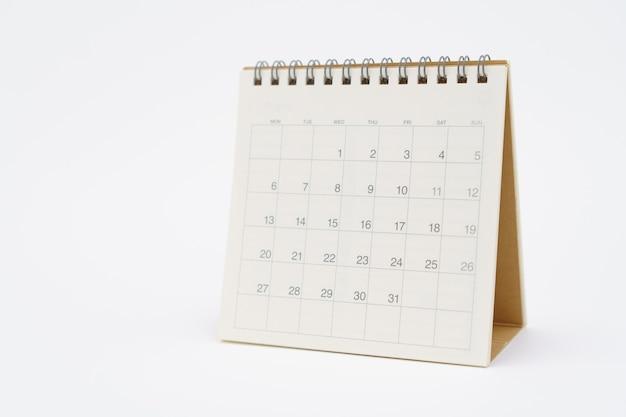 Un calendrier du mois. en utilisant comme concept d'entreprise d'arrière-plan et concept de planification avec des espaces de copie et un espace blanc pour votre texte ou votre conception.