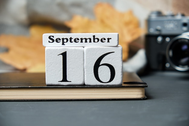 Calendrier du seizième jour du mois d'automne septembre
