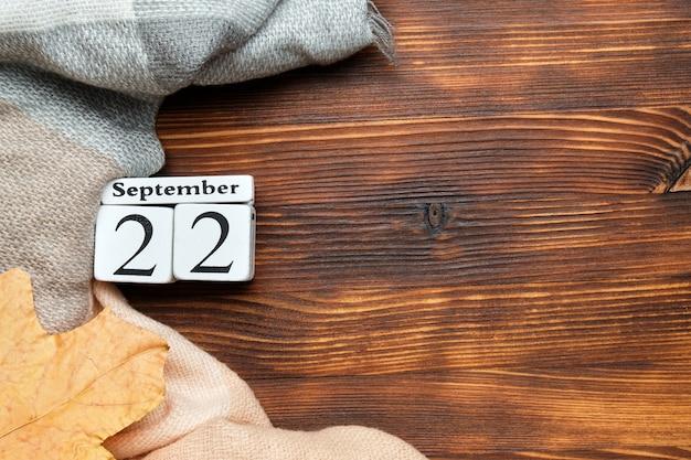 Calendrier du vingt-deuxième jour du mois d'automne