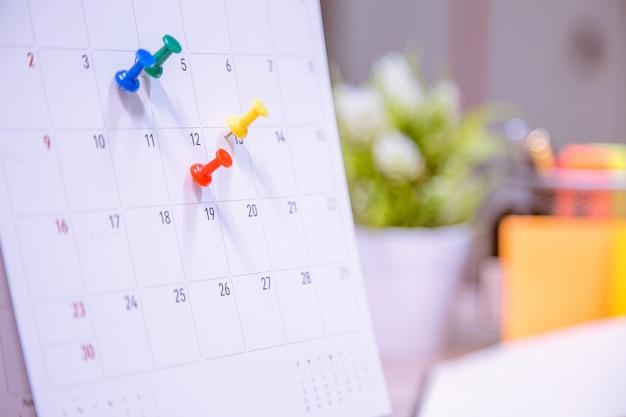 Le calendrier des événements du calendrier est occupé.