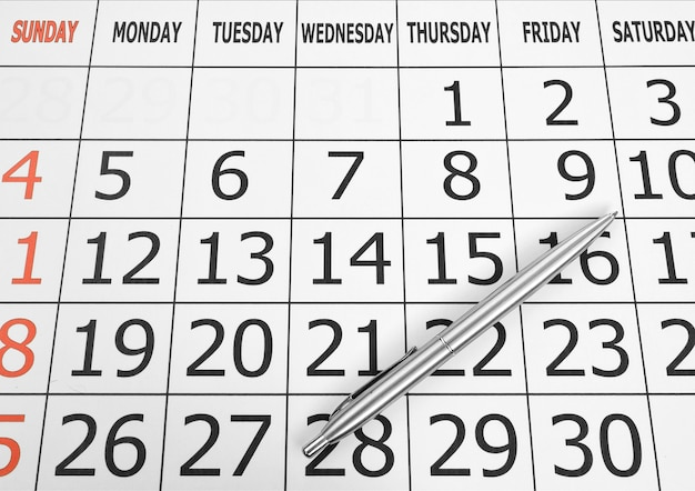 Calendrier mars 2010 avec page curl isolated on white