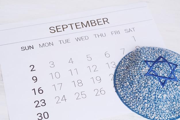 Calendrier de septembre avec kippa