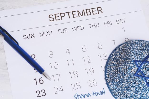 Calendrier de septembre avec