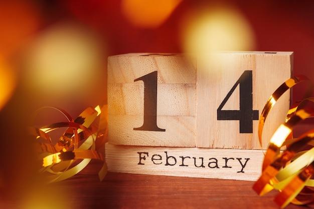 Calendrier avec st, date valentine
