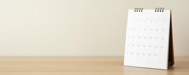 Calendrier sur table de bureau