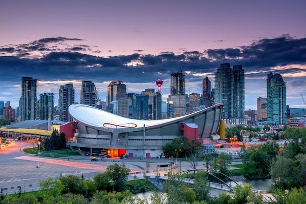 Calgary, ville, horizon, alberta, canada