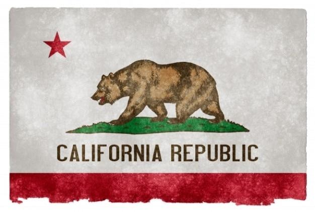 Californie grunge flag
