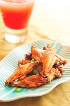 Calories de viande de poivre aux collations de poulet frites