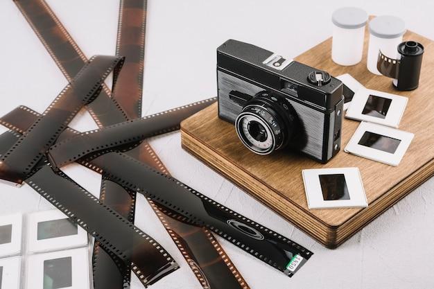 Caméra à bord avec des négatifs