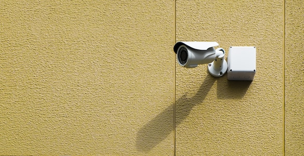 Caméra cctv sur le mur.