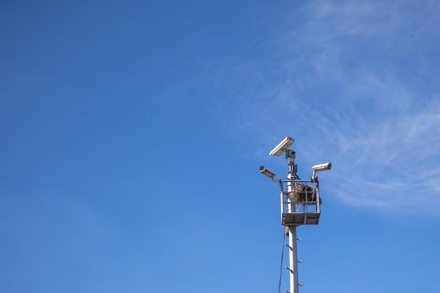 Caméra cctv et nid