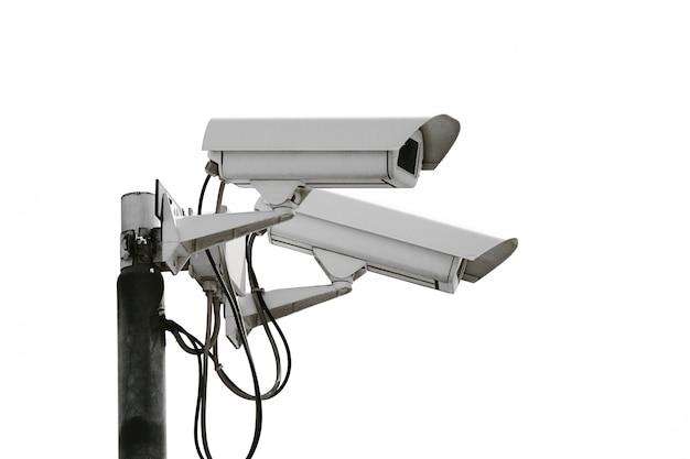 Caméra de contrôle sur blanc