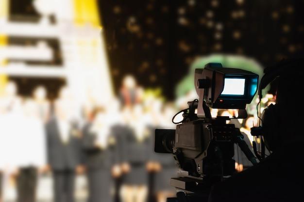 Caméra d'enregistrement vidéo en studio