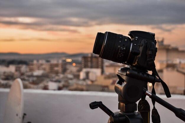 Caméra faisant un coup