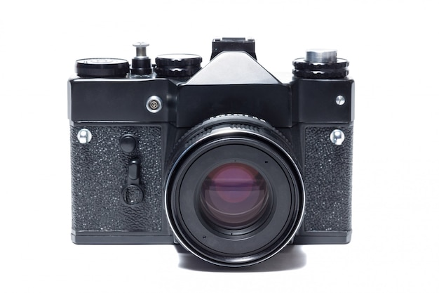 La caméra sur fond blanc