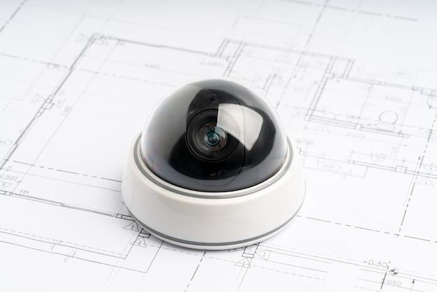 Caméra en ligne de sécurité cctv avec plan de maison