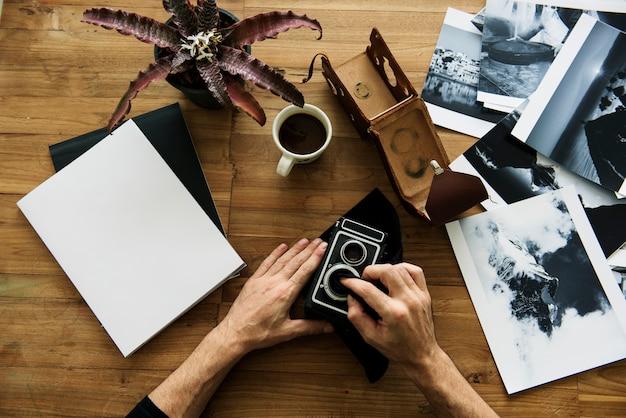 Caméra photographie retro vintage equipment