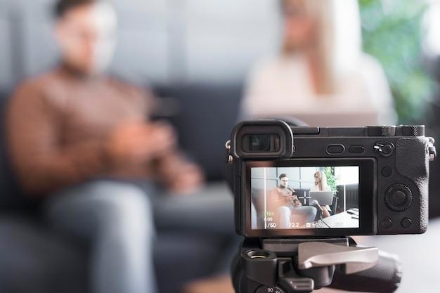 Caméra rapprochée pour le journalisme